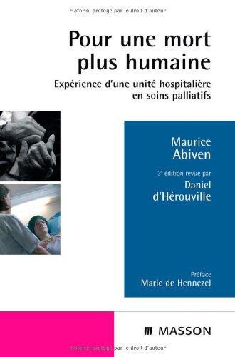 Pour une mort plus humaine - Expérience d'une unité hospitalière en soins palliatifs: POD