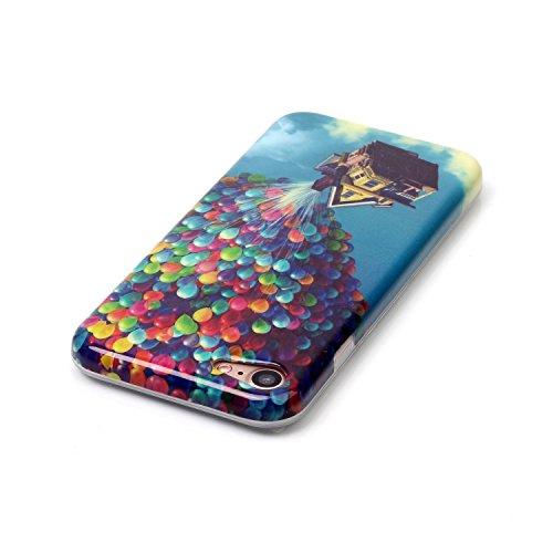 Voguecase® Pour Apple iPhone 7 Plus 5,5, TPU avec Absorption de Choc, Etui Silicone Souple Transparente, Légère / Ajustement Parfait Coque Shell Housse Cover pour Apple iPhone 7 Plus 5,5 (dollar)+ Gra ballons et maisons 01