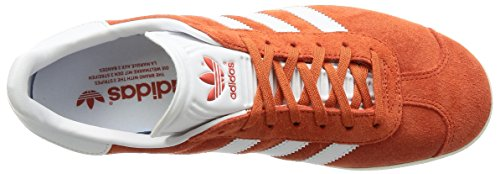 adidas Gazelle, Scarpe da Ginnastica Basse Uomo Arancione (Future Harvest/footwear White/gold Metallic)