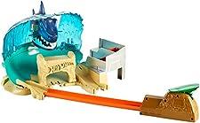 Hot Wheels City Attaque du Requin, coffret de jeu pour petites voitures avec circuit et pistes, Jouet pour enfant, FNB21