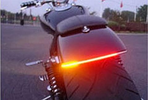 FREESOO Lampe Feu Diurne Barre de Lumière LED de MOTO Motorcycle Flexible Arrêt du Signal Lampe Etanche 12V 48LED 48SMD
