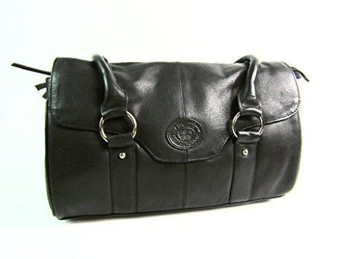 686fe1f41984d ... Damen Designer Super Weich Schwarz Premium Lederhandtasche  Schultertasche Umhängetasche Black