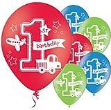 All Aboard 1st Bithday Balloons - 11'' Latex x6