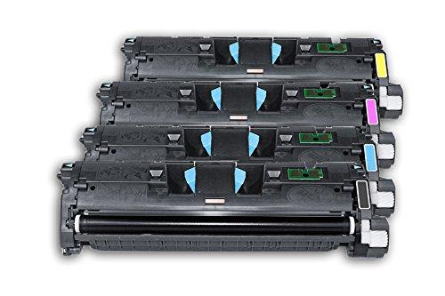 Color 2550l Toner Hp Jet Laser (4x Toner SET (BK,C,M,Y) MULTIPACK kompatibel zu HP Color Laserjet 2550 / 2550 L / 2550 LN / 2550 N / 2800 Series / 2820 / 2820 AIO / 2840 / 2840 AIO, 1x black / schwarz, 5.000 Seiten, 1x rot / magenta, 1x blau / cyan, 1x gelb / yellow, für je 4.000 Seiten, ersetzt Q3960A, Q3961A, Q3962A, Q3963A, 60A, 61A, 62A, 63A, 122A)