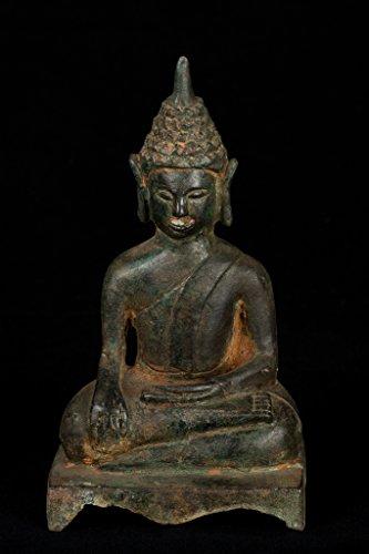 HD Asiatische Kunst 19. Jahrhundert Antik Laos Erleuchtung Buddha-Statue -
