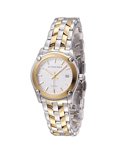 SALE! Authentic Burberry Heritage LUXURY Womens Unisex Mens Dual Tone Gold Watch Check Stamped Date Dial BU1857