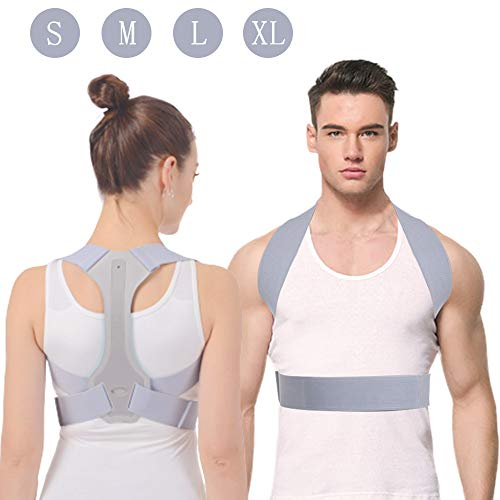 Haltungskorrektur HOPAI Geradehalter zur Haltungskorrektur Rückentrainer Schulter Rückenstütze, Schultergurt gegen Nacken -und Schulterschmerzen für gerader Rücken für Damen Herren
