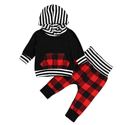 Beikoard Warm Blumendruck Hoodie Sweatshirt Langarm T-Shirt+ Floral Hose Outfits Baby Neugeborenes Kleidung Set 0-24 Monate