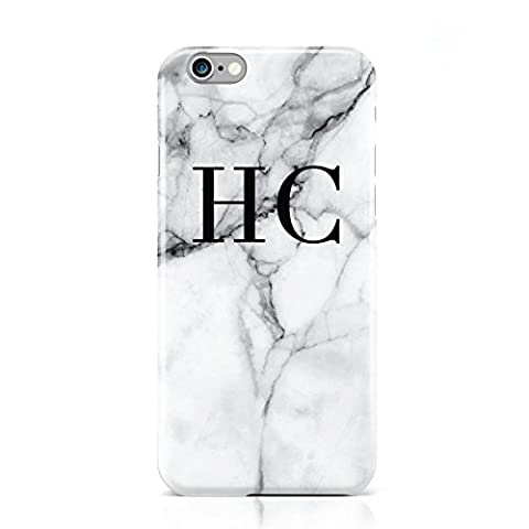 PERSONALISED MARBLE INITIALS MONOGRAM MOBILE PHONE CASE FOR APPLE IPHONE 6 6S