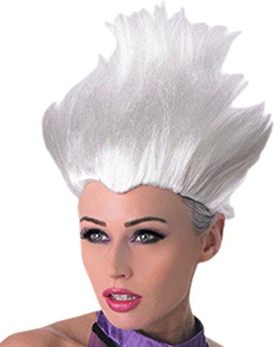 erdbeerclown - Damen Perücke Arielle Ursula, Weiß