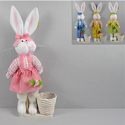 Coniglio in piedi decorativo vari colori pasqua decorazione pasquale lepre