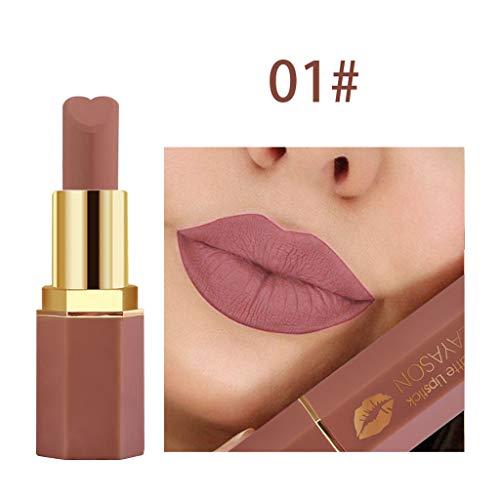 BOLANQ Cosmetics Matte Und KüRbis Farbe Bohnenpaste Lip Solid Gloss Lipstick Long Last -