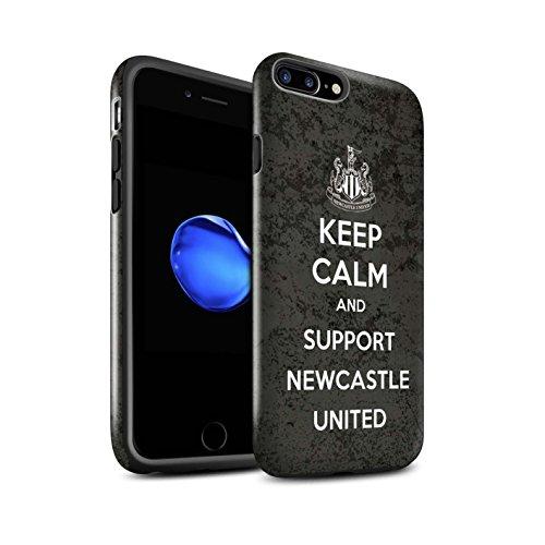 Officiel Newcastle United FC Coque / Brillant Robuste Antichoc Etui pour Apple iPhone 7 Plus / Suivez/Magpies Design / NUFC Keep Calm Collection Soutien
