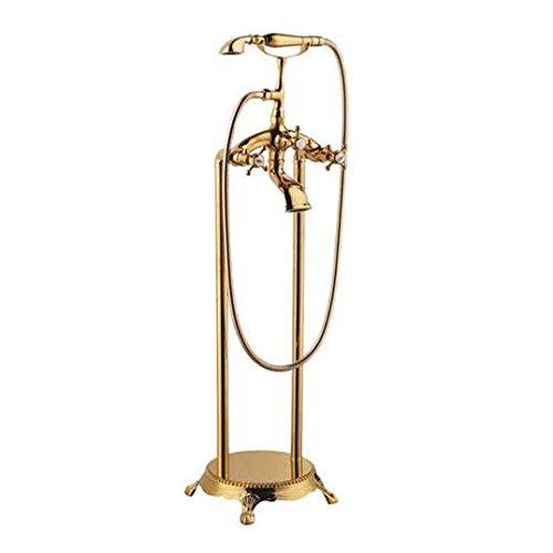 Galvanik Retro Wasserhahn 2016 Großhandel Hochwertige Luxus Vintage traditionelle Victoria Golden Standbox Badewanne Dusche Mischbatterie Wasserhahn, Gelb