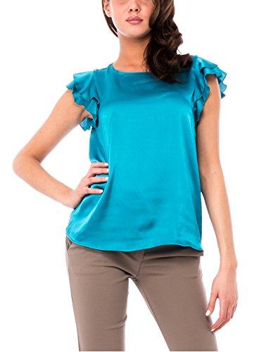 Solo Capri Blusa con Manica Volant, Camisa para Mujer Solo Capri