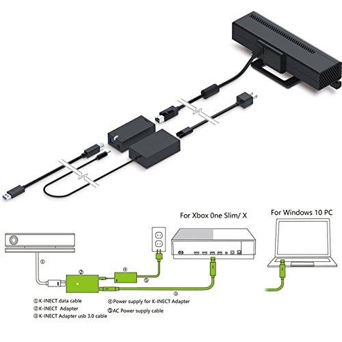 Mini KINECT Adapter For Windows Hub,YIKESHU Kinect Adapter For Xbox One S/X And Windows 10 PC,Somatosensory kinect (Xbox-2-M)