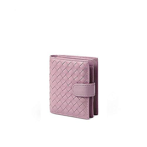 CBCAfrau Short Handtasche, schaffell Brieftasche mit weichen mehl und Kurze echtem Leder,pink -