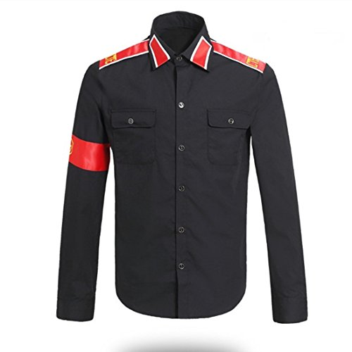 Guangmu Michael Jackson Hemden für CTE Style Erwachsener und Kind Rollenspiele Party Rollenspiele Verkleiden Shirt Michael Jackson Kostüme (Schwarz, ()
