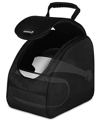Fosmon Sony Playstation 4 VR / PS4 VR/PSVR/Tasche, Trage-, Transport- Reise-, Hand-, Aufbewahrungs- Tasche, Schutz- Hülle [Gepolstert] [eb. für Headset & Zubehör] -Schwarz