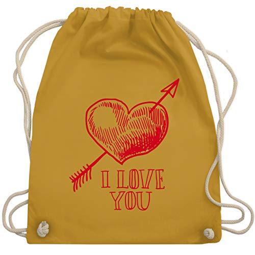 Kinder Cupid Kostüm - Valentinstag - Herz I Love You Pfeil - Unisize - Senfgelb - WM110 - Turnbeutel & Gym Bag