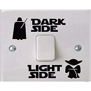 2 Sets Light Side – Dark Side Vinyl Sticker für Lichtschalter zum Aufkleben, schöne Dekoration fürs Kinderzimmer, Fans…