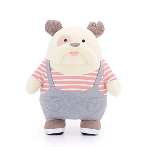 Kostüm Boss Baby - BlackStree 25cm Süße Cartoon Bulldog Boss Kostüm Hund Puppen Plüsch Spielzeug Gefüllte Tier Puppe Für Kinder Kinder Geburtstag 25cm rosa