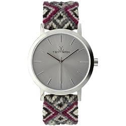 Toywatch Maya Women's Quartz Watch with Grey Dial Analogue Display and Grey Strap MYW11SL - 0.94.0065
