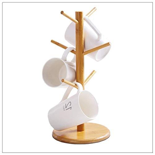 Tasse ständer Holz, Tassenhalter für 6 Tassen Tasse Baum Halter für Küchenbecher...
