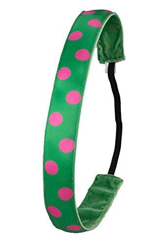 Ivybands | Das Anti-Rutsch Haarband | Green Pinky Dots | One Size IVY305