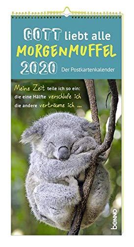 Gott liebt alle Morgenmuffel - Der Postkartenkalender