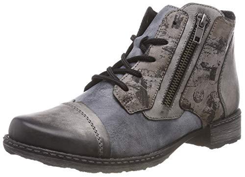 Remonte Damen D4378 Combat Boots, Grau (Negro/Ozean/Cigar 15), 40 EU