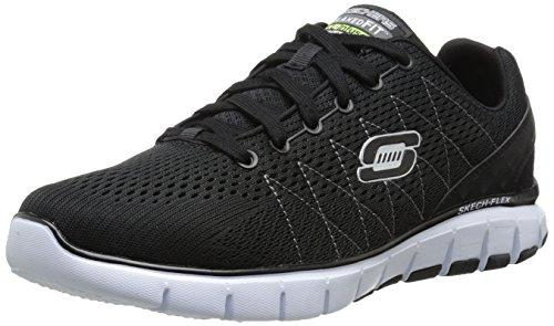 Skechers Skech-Flex, Low-Top Sneaker uomo, Nero (Bkw), 43