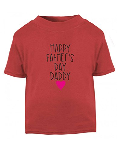 Happy Father's Day Daddy Pink Scribble Heart Cute Toddler T Shirt - Fathers Day Gift