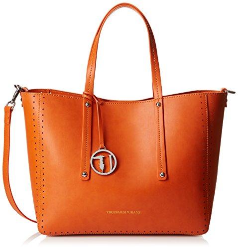 trussardi-jeans-tote-donna-arancia-32-cm