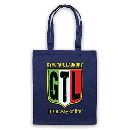 Inspiriert durch Jersey Shore GTL Gym Tan Laundry Inoffiziell Umhangetaschen Ultramarinblau