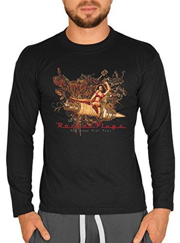 Biker Hemd - Sinister Garage - Rocket Plugs - Langarm-Shirt für echte Kerle Schwarz