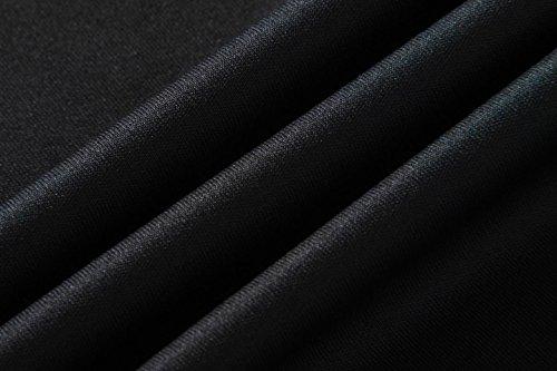 jeansian Herren Sportswear Quick Dry Short Sleeve T-Shirt LSL020 LSL145_Black