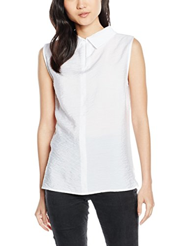 Opus Fenia, Blouse Femme Blanc - Weiß (white 010)