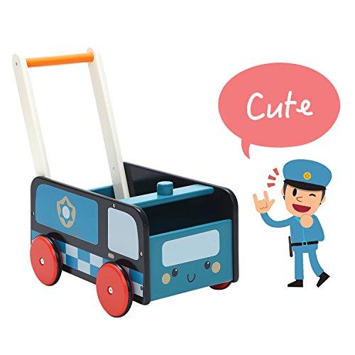 Labebe Andador,Coche de policía azul Andador Con Bloques de 1-3 Años