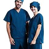 OPPP Abbigliamento medico Camice Chirurgico ospedaliero Completo di Manica Lunga e Corta a Manica Corta Uomo-Donna in Poliestere-Cotone Spazzola per l'isolamento della Sala operatoria