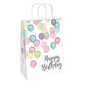 amscan 9903714 Happy Birthday - Bolsas para Fiestas (2 Unidades), Color Pastel