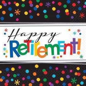16 Servietten zum Ruhestand