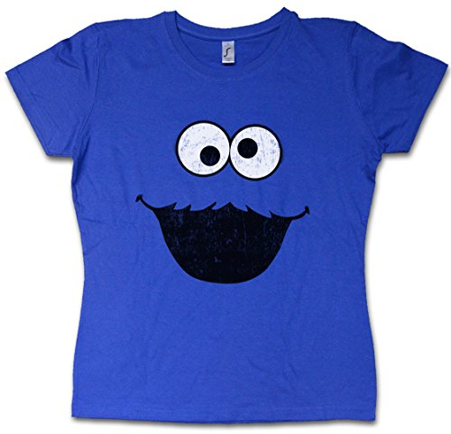 COOKIE MONSTER WOMAN GIRLIE DONNA T-SHIRT - Macaron Puppet Sesame Monster Place Sesamstraße le glouton Ernie TV USA Street Taglie S - 5XL