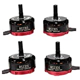 Crazepony-UK 4pcs EMAX RS2205 2300KV Brushless Motor 2CW 2CCW for QAV250 QAV300 FPV Racing Drone Quadcopter