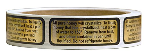 Mann Lake 250 Count Liquification Label, 3/4 by 2-Inch 1