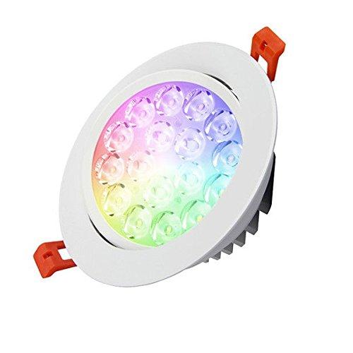 KingLed - Mi-Light Produits Wi-Fi Multicolores RVB+CCT Blanc avec Degrés Kelvin Variables (Plafonnier encastré 9W)