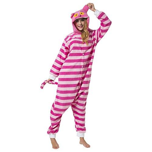 Imagen de kigurumi pijama disfraz de animal traje de dormir para adultos unisex  ideal para cosplay, carnaval o halloween  gato de cheshire con capucha l alternativa