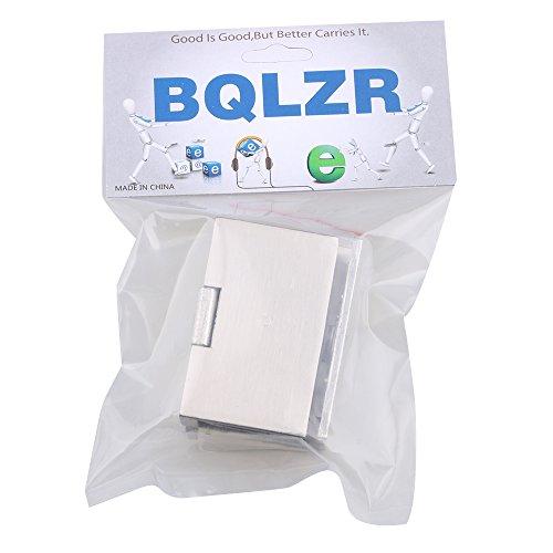41E%2BmuJQAnL - BQLZR plata tono acero inoxidable Gabinete de cristal puerta bisagra de metal cromado que se ajusta a de pared para 10 mm Espesor puerta 2 unidades
