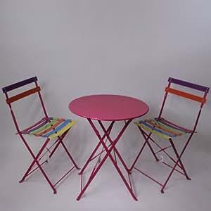 gartentisch mit zwei st hlen metall gartengarnitur tisch stuhl set pink k che. Black Bedroom Furniture Sets. Home Design Ideas