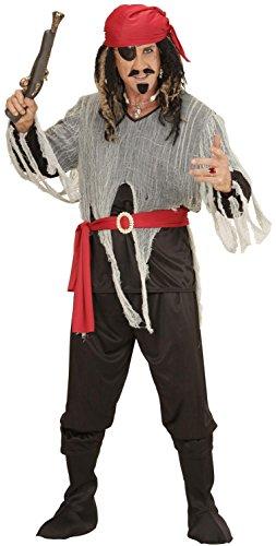 Widmann 00071 - Erwachsenenkostüm Pirat, Hemd, Hose, Gürtel, Stiefelbedeckung und Bandana, Größe S (Erwachsene Piraten-boot)